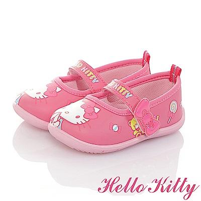 HelloKitty童鞋 輕量減壓抗菌防臭室內外娃娃鞋-桃