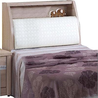 綠活居 路斯3.5尺皮革單人床頭箱(二色+不含床底)-106x30x109cm免組