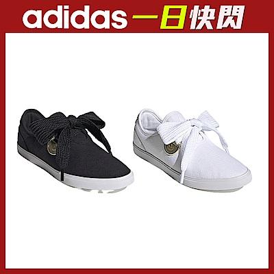 【限時快閃】adidas SLEEK LO 經典鞋 女(黑/白任選)