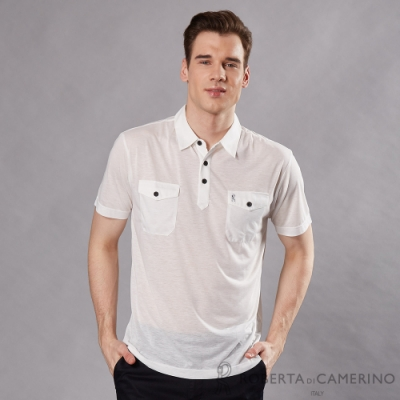 ROBERTA諾貝達 日本進口商品 舒適短袖POLO棉衫 白色