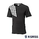 K-SWISS Jersey T-Shirt印花短袖T恤-男-黑