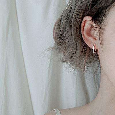 梨花HANA  韓國s925銀六角中性文青耳環