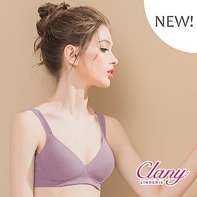 無痕裸感無鋼圈竹纖維塑布透氣BCD內衣 紫紅花園 可蘭霓Clany