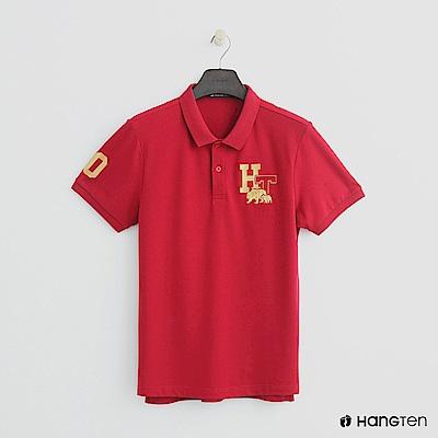 Hang Ten - 男裝 -logo刺繡POLO杉-紅