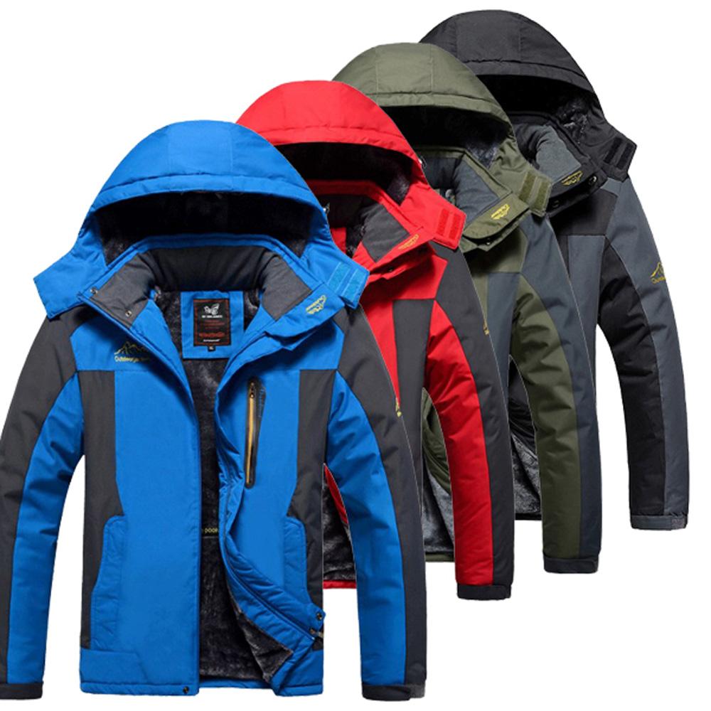 美國熊 防風保暖抗汙防撥水羔絨內裡 加厚風衣衝鋒衣