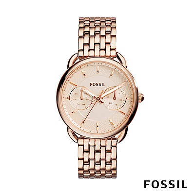 FOSSIL TAILOR 玫瑰金多功能不鏽鋼女錶