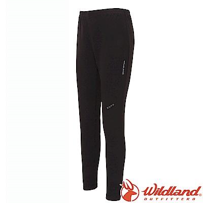 Wildland 荒野 W2658-54黑色 中性男女 遠紅外線保暖內搭褲