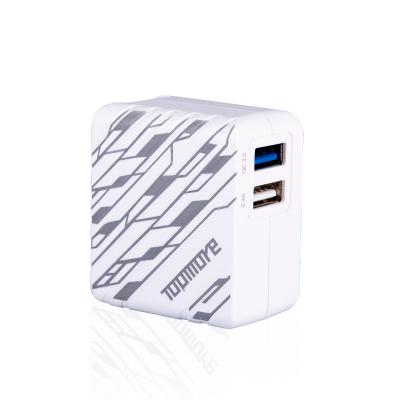 達墨TOPMORE Quick Charge 3.0 雙USB充電器