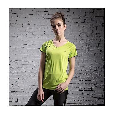 國家地理女款溫控排汗衫-果綠