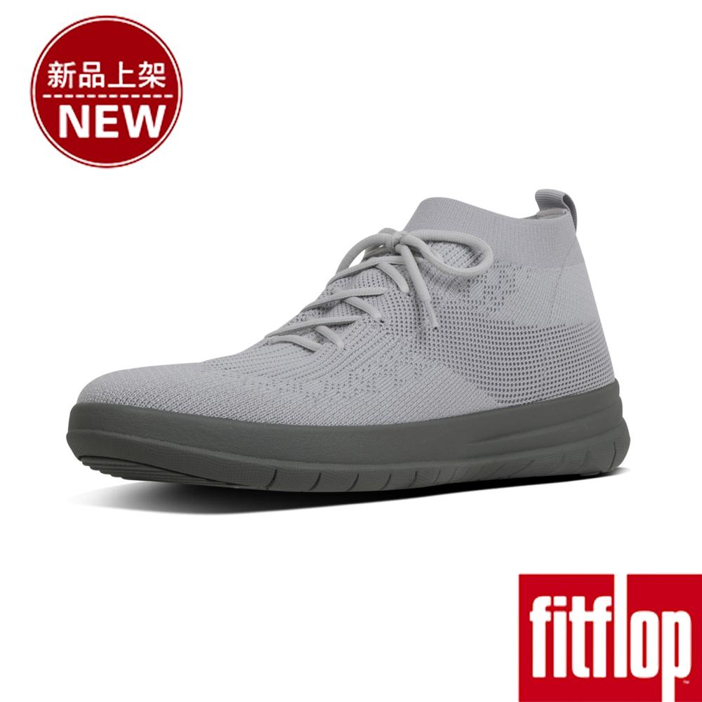 FitFlop UBERKNIT LACE-UP SNEAKERS-淺灰色