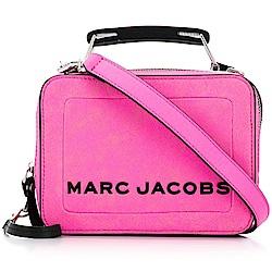MARC JACOBS THE BOX BAG 仿舊皮革手提/肩背兩用包(小