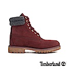 Timberland 男款磚紅色防水皮革六吋靴 A1ZK8