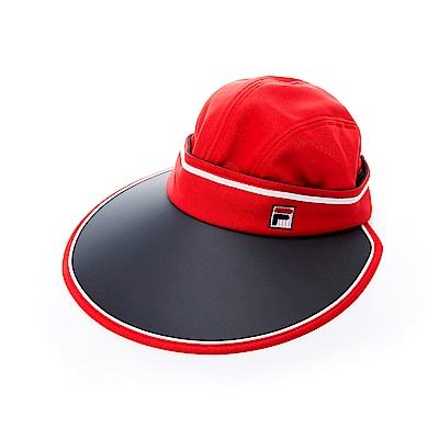 FILA 時尚可拆遮陽帽-紅 HTS-5003-RD
