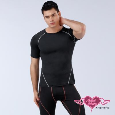 塑身衣 簡約有型 短袖運動背心 運動內衣 (黑M~XL號) AngelHoney天使霓裳