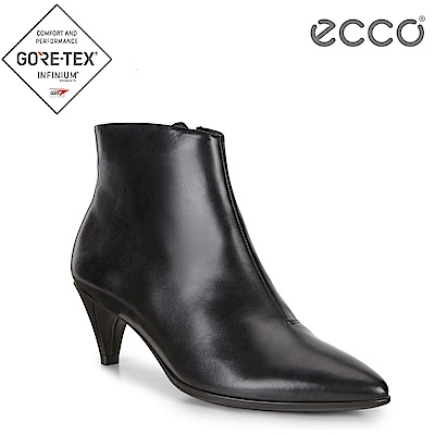 ECCO SHAPE 45 POINTY SLEEK 優雅尖頭拉鍊踝靴 女-黑