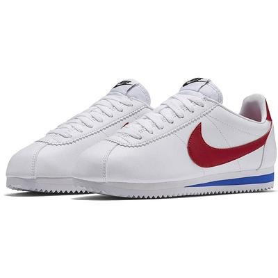 NIKE 運動鞋 女鞋 阿甘鞋 休閒鞋 WMNS CLASSIC CORTEZ LEATHER 白紅 807471103