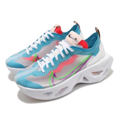 Nike 休閒鞋 Zoom X Vista Grind 女鞋 海外限定 厚底 舒適 避震 穿搭 白 藍 CQ9500100