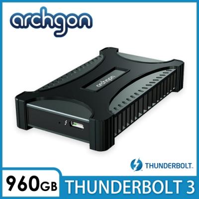 archgon X70 II外接式固態硬碟Thunderbolt 3-960GB -曜石黑