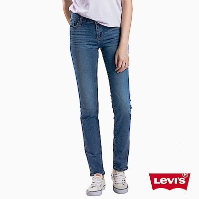 Levis 女款 男友褲 712 中腰合身小直筒牛仔長褲