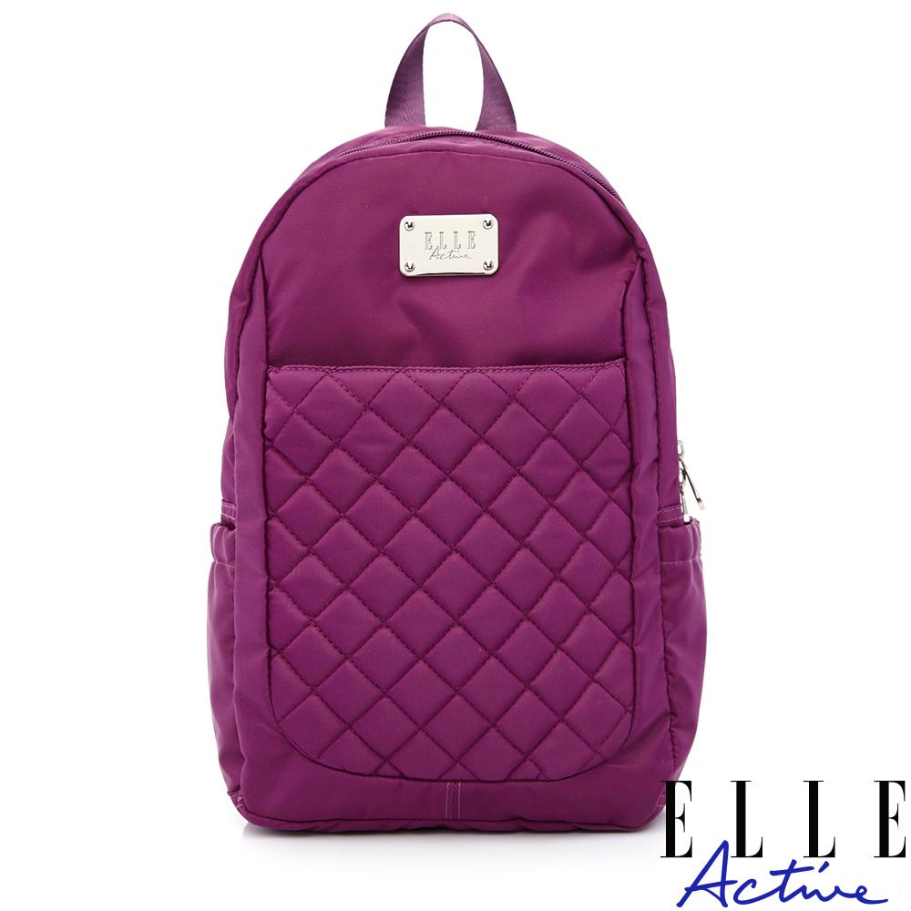 ELLE Active 生活印記系列-後背包-小-紫色
