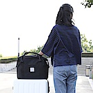 E.City_牛津布手提肩背行李拉桿登機袋