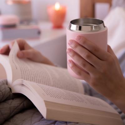 FELLOW Carter卡特陶瓷咖啡真空保溫瓶12oz-石櫻粉