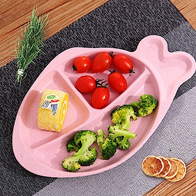 Homely Zakka 麥趣食光健康環保小麥魚型分隔餐盤(公主粉)