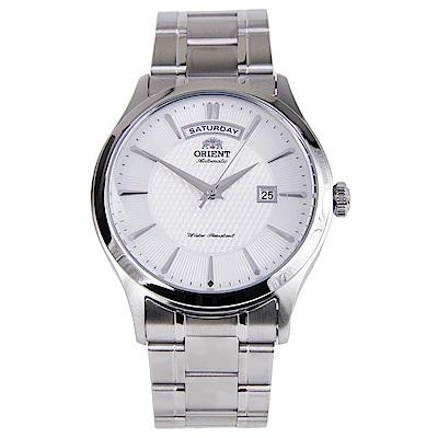 ORIENT 品味生活自動上鍊機械腕錶(FEV0V001WH)-白/41mm