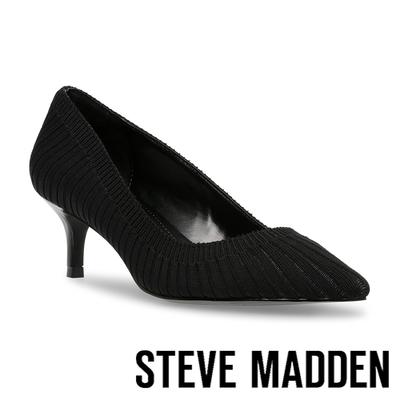 STEVE MADDEN-SABRINAH-K 針織尖頭跟鞋-黑色