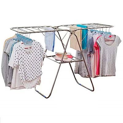 LOGIS 不鏽鋼翼型曬衣架/吊衣桿