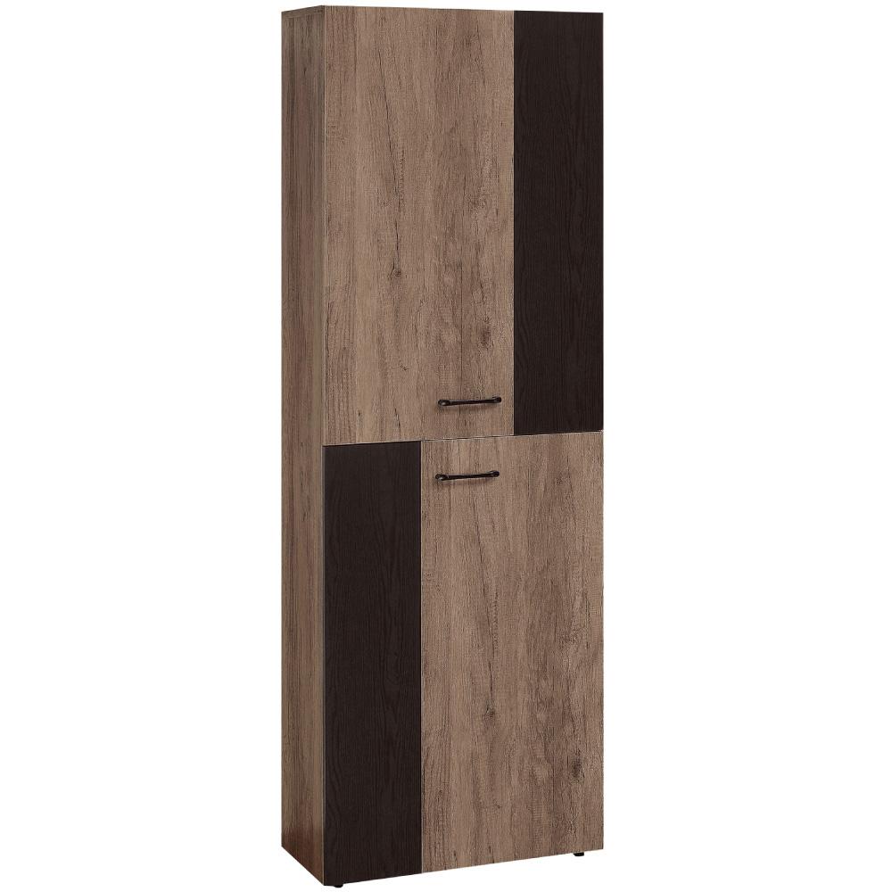文創集 賽芙亞時尚2尺二門雙色高鞋櫃/玄關櫃-60x32x182cm免組