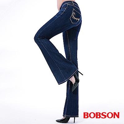 BOBSON 女款WINCOOL貼腿大喇叭褲