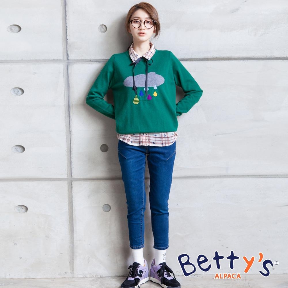 betty's貝蒂思 經典微刷色牛仔褲(深藍)