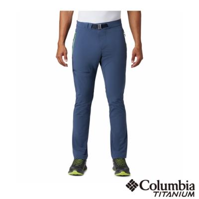Columbia 哥倫比亞 男款- 鈦 涼感防潑防曬50長褲-墨藍
