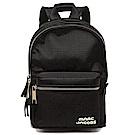 MARC JACOBS TREK PACK品牌Logo尼龍雙層後背包 中/黑色
