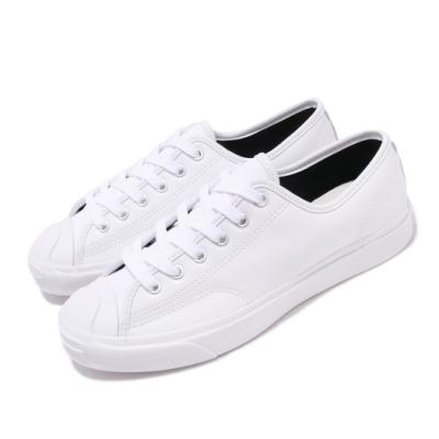 Converse 休閒鞋 Jack Purcell 穿搭 男女鞋 基本款 簡約 漆皮 開口笑 情侶鞋 白 黑 168135C
