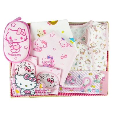 三麗鷗凱蒂貓HELLO KITTY 新生兒禮盒組