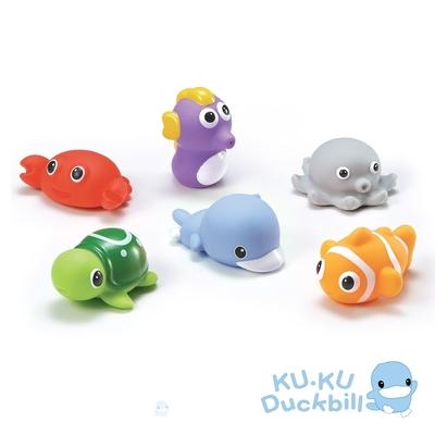 KUKU酷咕鴨 水中玩具-海洋動物組(藍/粉)