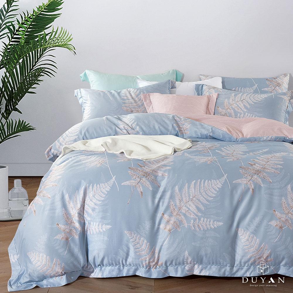 (均一價)DUYAN竹漾-3M吸濕排汗奧地利天絲-單/雙/大床包枕套組-多款任選 台灣製 (靜曉葉歌)