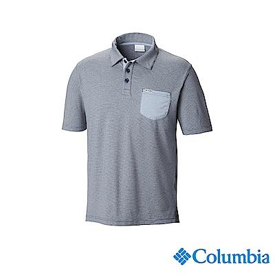 Columbia哥倫比亞 男款-UPF50快排Polo衫-藍色 UFM00690BL
