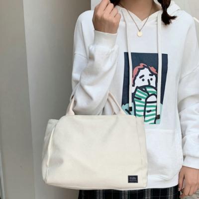 I FUN 現+預 簡約大容量手提帆布包-2色