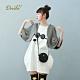 【Dailo】披肩式假兩件印花-洋裝(二色)