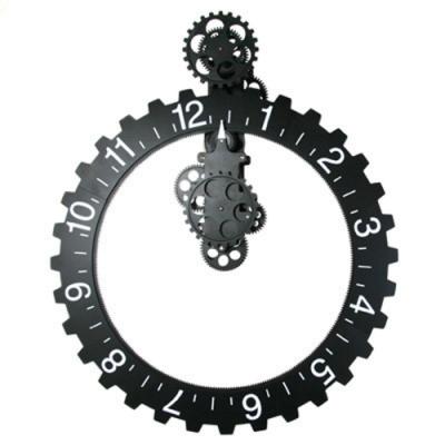超大齒輪璧面掛鐘54cm-黑