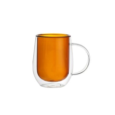 FUSHIMA富島 Addicted系列-雙層玻璃杯310ML-迷戀暖陽咖
