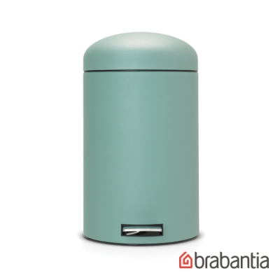 【Brabantia】復古式靜音垃圾桶-20L墨綠色