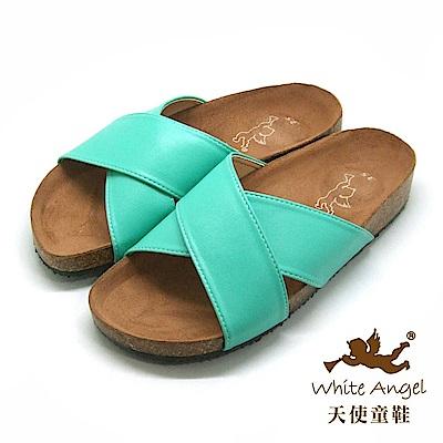 天使童鞋 X2氣墊親子拖鞋(超大童/媽咪)J89-綠