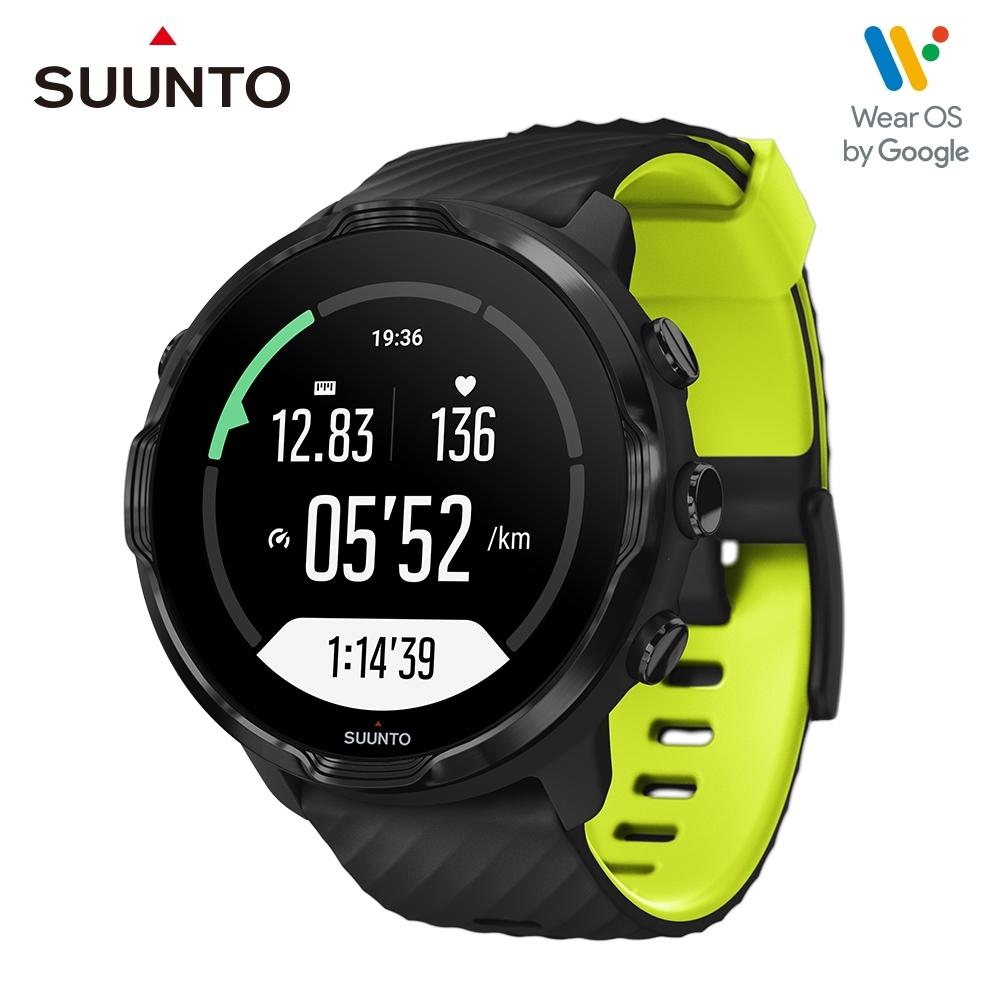 SUUNTO 7 經典黑 萊姆綠 / 結合豐富的【戶外運動】與【智慧生活】功能於一體的GPS腕錶