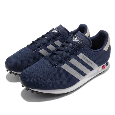 adidas 休閒鞋 LA Trainer Weave 男鞋 海外限定 舒適 避震 球鞋 穿搭 藍 白 M21357