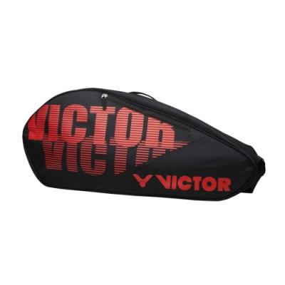 VICTOR 12支裝羽拍包-拍包袋 羽毛球 裝備袋 肩背包 側背包 羽球 勝利 BR6213CD 黑紅