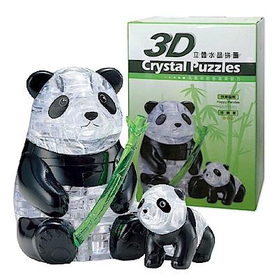 快樂熊貓3D水晶拼圖-(8cm系列-51片)